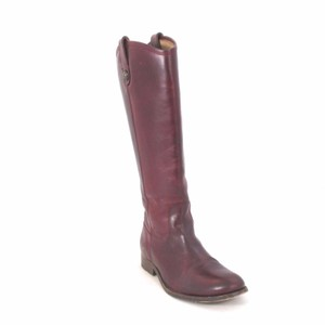 Frye Leather Burgundy Boots