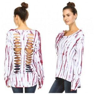 Urban X Tie Dye Open Back Long Sleeve Layering Nwt Sweatshirt