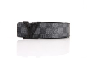 Louis Vuitton Damier Graphite 'LV' Initiales Belt