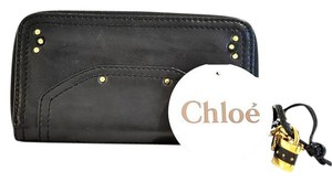 Chloé Chloe,Black,Studded,French,Wallet