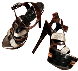 Jessica Simpson Black/Silver Platforms