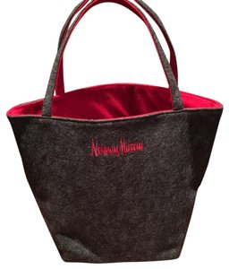 Neiman Marcus Tote in Grey/Red