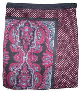 Adrianna Papell Skirt Black,red and white
