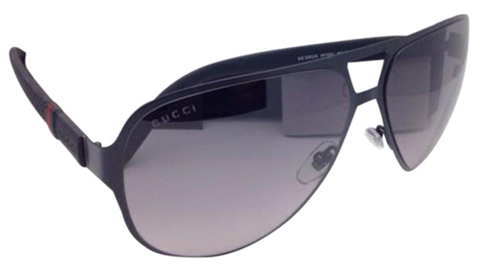894763eb3e Gucci New Gg 2252 S M7aeu 62-13 Black Aviator Frame W  Grey Gradient ...