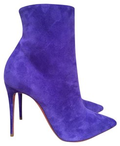 Christian Louboutin Kate Stiletto Suede Bootie purple Boots