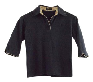 Burberry London Polo London Crop Lacoste T Shirt Dark Blue