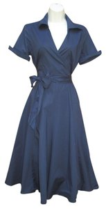 Alyn Paige Faux Wrap Housewife Dress
