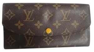 Louis Vuitton Auth Louis Vuitton Emilie Yellow Mimosa Leather Monogram Wallet
