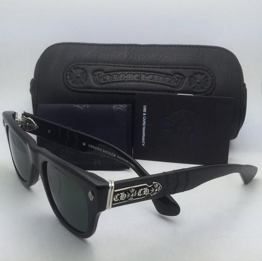 Chrome Hearts New CHROME HEARTS Sunglasses INSTAGASM BK Black & Silver Frame w/Green