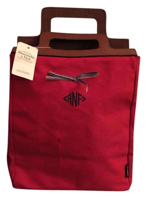 Item - New with Tag A&f Fire Engine Red Canvas and Leather Tote