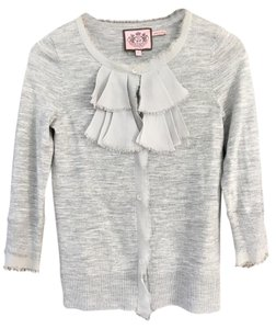 Juicy Couture Silk Details Distressed Edge Cardigan