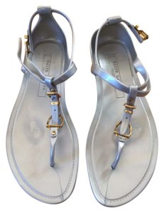 Ralph Lauren Collection Comfortable Quality Italy Neutral Gray Sandals