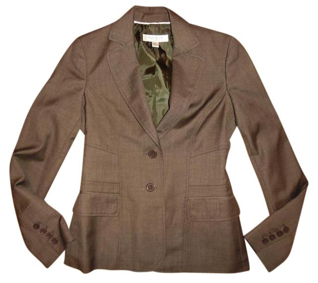 Preload https://item2.tradesy.com/images/anne-klein-dark-olive-brown-fitted-stretchy-buttoned-jacket-blazer-size-0-xs-20001681-0-1.jpg?width=400&height=650