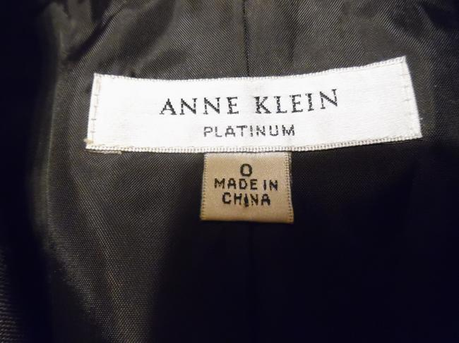 Anne Klein Office Career Work Dark Olive Brown Blazer