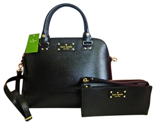 Kate Spade Wellesley Rachelle Crossbody Strap Wallet Included Satchel in Black
