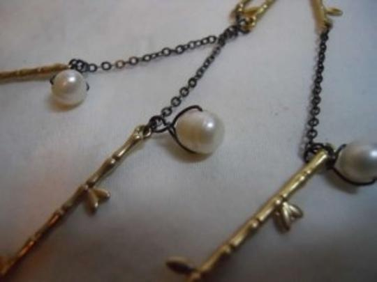 Coldwater Creek faux pearl bamboo necklace