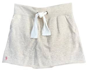Ralph Lauren Cotton Drawstring Mini Skirt Off white