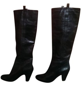 Nine West Leather Knee Black Boots