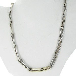 David Yurman David Yurman Labyrinth Link 18 Necklace 18k Yellow Gold Sterling 925