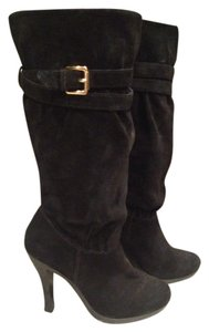 Michael Kors Boot Knee High Suede Black Boots