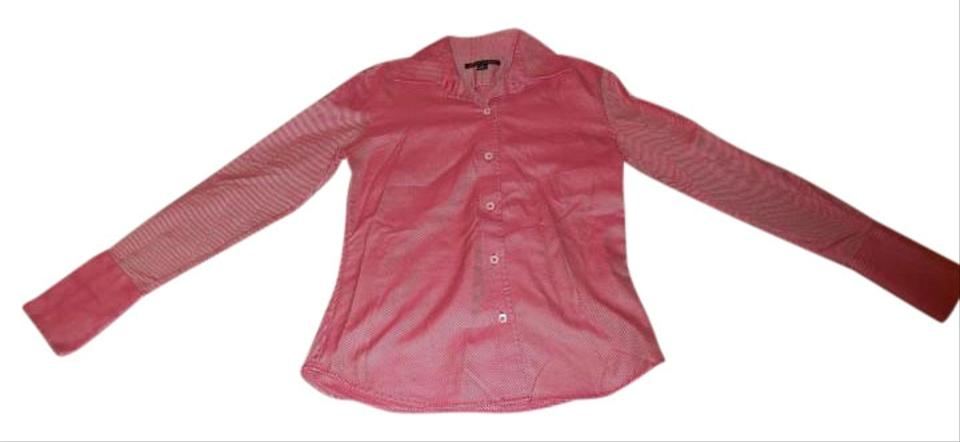 Banana republic red and white striped longsleeve button for Red and white striped button down shirt