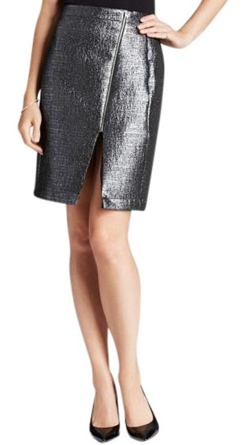 Preload https://item5.tradesy.com/images/aqua-silver-glam-brocade-pencil-bloomingdale-s-exclusive-knee-length-skirt-size-4-s-27-20002094-0-1.jpg?width=400&height=650