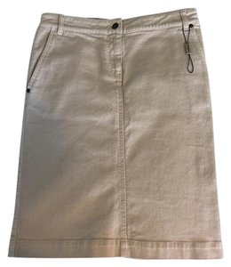 Burberry Denim Pencil Preppy Skirt beige
