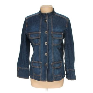 Chico's Navy blue Womens Jean Jacket