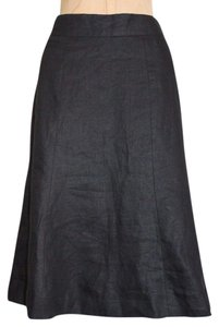 Forth & Towne Linen Skirt BLACK