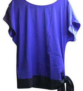 Ann Taylor Top Royal blue with navy
