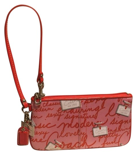 Preload https://item1.tradesy.com/images/coach-nwot-coach-and-perfume-bottle-themed-redpink-nylon-wristlet-20002320-0-1.jpg?width=440&height=440