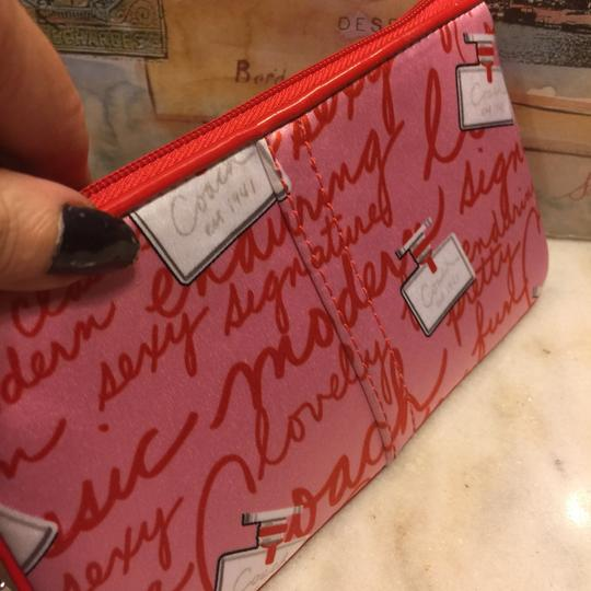 Coach Wristlet in Red/Pink
