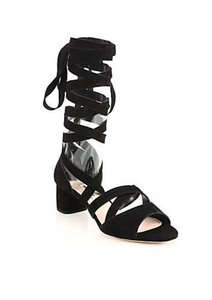 Miu Miu Suede Black Sandals
