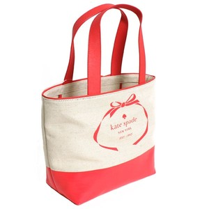Kate Spade Canvas Tote Travel Two-tone Tote Multifunction Coral Travel Bag