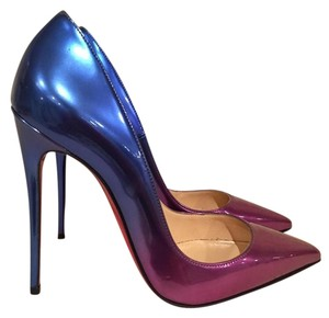 Christian Louboutin Kate Stiletto Ombre Patent Leather blue Pumps