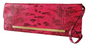 Brahmin Great Year Round Priced To Sell Classic Htf Very Rare Removable Strap PINK FAIRVIEW Clutch