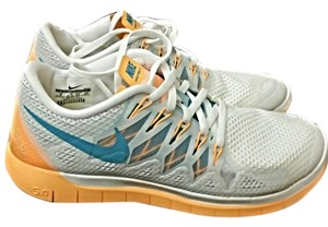 Nike white orange teal Athletic