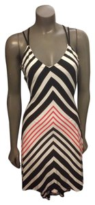 Black/Red/White Maxi Dress by bebe Maxi High-low Stripes