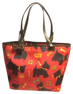 Dooney & Bourke Tote in Red/Black/Yellow