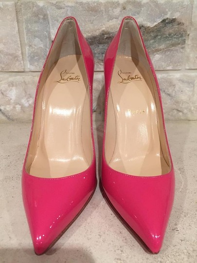 Christian Louboutin Pigalle Follies Kate Stiletto Patent pink Pumps