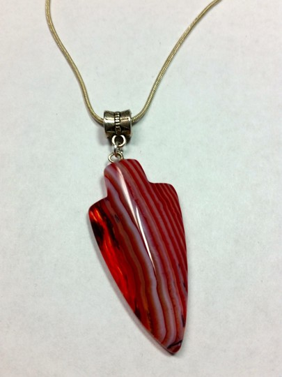 Other New Agate Arrow Pendant Necklace Silver J3001