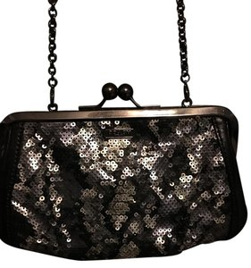 Coach Black and Silver Python Clutch