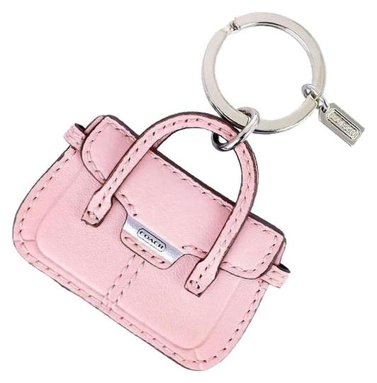 Preload https://item4.tradesy.com/images/coach-pink-leather-taylor-hand-bag-purse-key-fob-chain-ring-20002803-0-2.jpg?width=440&height=440