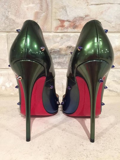 Christian Louboutin Degraspike Spike Stiletto Patent Ombre green Pumps