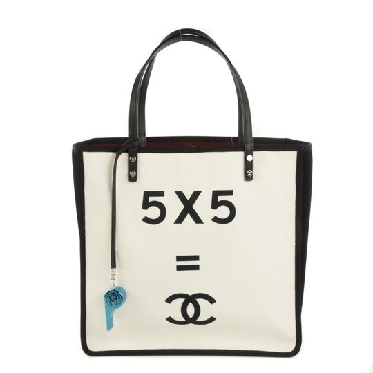 Chanel Demonstrate 5+5 Math Tote in WHITE
