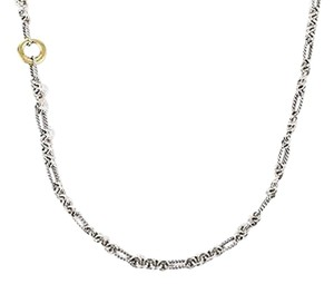 David Yurman David Yurman Sterling Silver 18k Yellow Gold Cable Chain Figaro Necklace