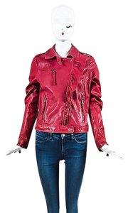 RED Valentino Berry Motorcycle Jacket