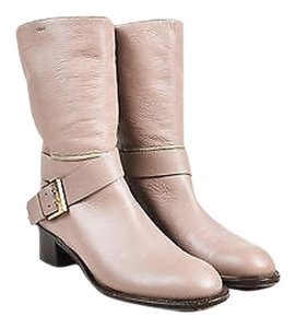 Chlo Chloe Pebbled Leather Taupe Boots