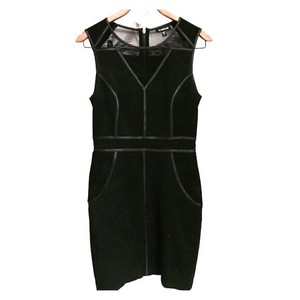 bebe Faux Leather Dress