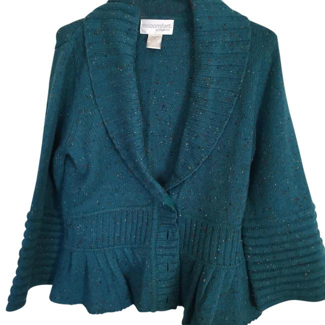 Preload https://item4.tradesy.com/images/chadwicks-teal-pink-yellow-sweaterpullover-size-10-m-20003143-0-2.jpg?width=400&height=650